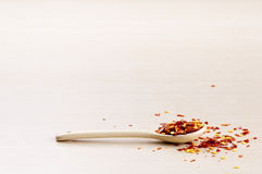 Chilli Flakes Stock Photo