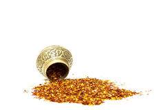 Chilli Flakes And Spice Bowl Royalty Free Stock Photo