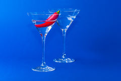 Chilli in glas Stock Photos