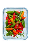 Chilli in the glass bowl Royalty Free Stock Photos