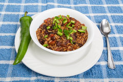 Chilli with Green Chile Pepper Royalty Free Stock Photo