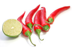 Chilli and lime Stock Photography