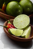 Chilli and Limes Royalty Free Stock Image