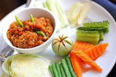 Chilli made ​​from fresh shrimp of Thailand Royalty Free Stock Photos