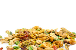 Chilli Nuts Selection. Selection of nuts with chilli and anchovy Stock Image