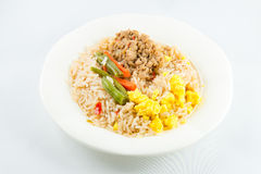 Chilli paste with pork and fried rice Stock Photos