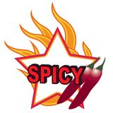 Chilli pepper. Spicy fire symbol vector illustration isolated over white background Stock Photos