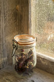 Chilli pepper in a glass jar Royalty Free Stock Photo
