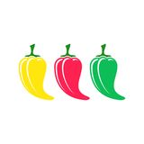 Chilli pepper icons Stock Photography