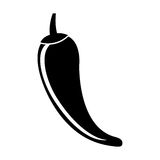 Chilli pepper isolated icon. Vector illustration design Royalty Free Stock Photos