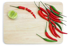 Chilli pepper and lime Royalty Free Stock Photos