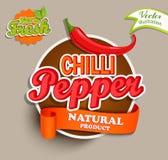 Chilli pepper logo. Stock Photos