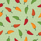 Chilli pepper pattern. Chilli pepper seamless pattern with clipping mask Royalty Free Stock Photography