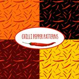 Chilli pepper seamless pattern Royalty Free Stock Photo