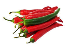 Chilli peppers royalty free stock photos