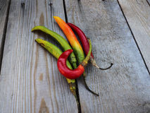 Chilli peppers. Autumn background Stock Photo