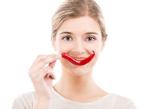 Chilli peppers smile Royalty Free Stock Photo