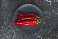 Chilli on a plate Stock Photo