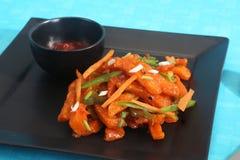 Chilli Potato Chinese Recipes. Dish royalty free stock photos