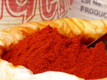 Chilli powder in a Jaipur market. Ground spices for making curries and other Indian dishes Royalty Free Stock Image