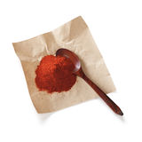 Chilli Powder and Spoon Royalty Free Stock Images