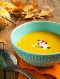 Chilli pumpkin soup Stock Photo