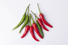 Chilli. Red green food ingredient Stock Images