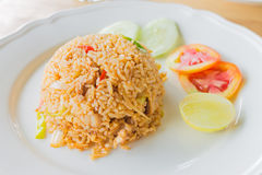 Chilli Rice fried with chicken Stock Photography
