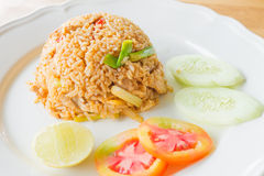 Chilli Rice fried with chicken Royalty Free Stock Photo