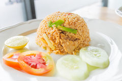 Chilli Rice fried with chicken Royalty Free Stock Image