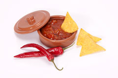 Chilli salsa. Royalty Free Stock Image