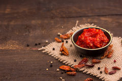 Chilli sauce Stock Photography
