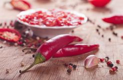 Chilli sauce Stock Photos