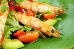 Chilli Shrimp Skewers Royalty Free Stock Images