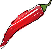 Chilli sketch Royalty Free Stock Photography