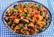 Chilli Soyabean. Indo Chinese Snack Chilli Soyabean Royalty Free Stock Photos