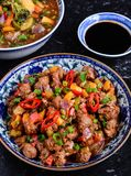 Chilli Soyabean. Indo Chinese Snack Chilli Soyabean Stock Photos