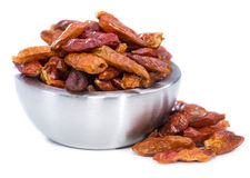 Chilli Spice in a small Bowl (on white) Stock Images