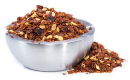 Chilli Spice in a small Bowl (on white) Stock Image