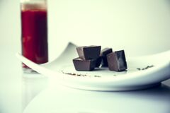 Chilli Tabasco with chocolate Stock Image