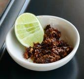 Chilli. Thai chilli paste on back table Stock Photo