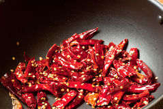 chillies czerwoni Fotografia Royalty Free