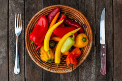 Chillies dinner Royalty Free Stock Photography