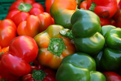 Chillies red and green closeup Royalty Free Stock Photos