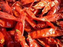 chillies zbliżenia czerwień Obrazy Stock