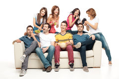 Chilling with friends Royalty Free Stock Photography