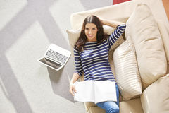 Chilling at  home Royalty Free Stock Photography