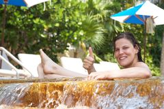 Chilling in the pool Stock Image