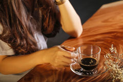 Chilling time coffee Royalty Free Stock Image