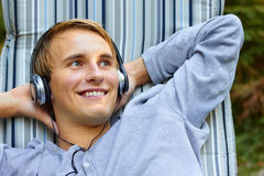 Chilling to some beats. Stock Images